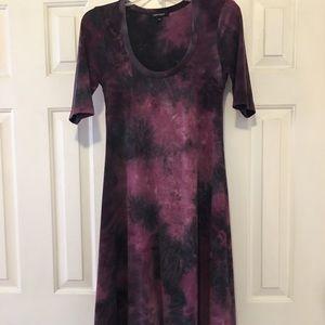 Tie-dye t-shirt midi A-line dress